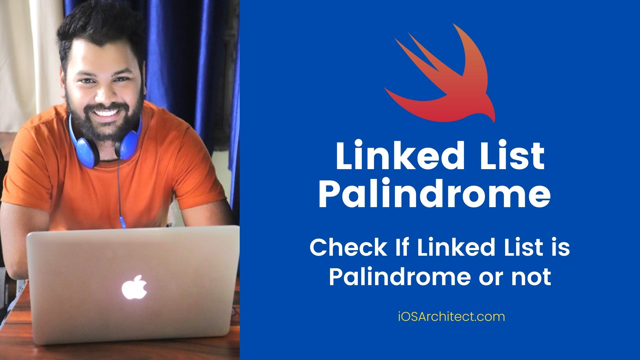 check if linked list is palindrome or not - swift